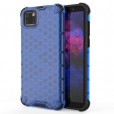 Honeycomb Case Dėklas Sutvirtintais Tpu Kraštais Huawei Y5P Mėlynas