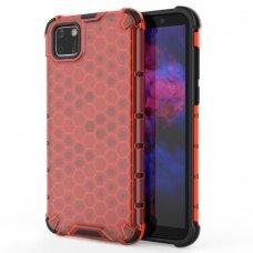 Honeycomb Case Dėklas Sutvirtintais Tpu Kraštais Huawei Y5P Raudonas