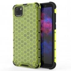 Honeycomb Case Dėklas Sutvirtintais Tpu Kraštais Huawei Y5P Žalias