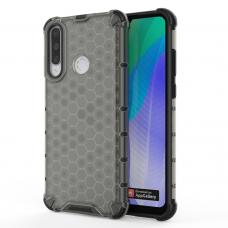 Honeycomb Case Dėklas Sutvirtintais Tpu Kraštais Huawei Y6P Juodas