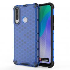 Honeycomb Case Dėklas Sutvirtintais Tpu Kraštais Huawei Y6P Mėlynas