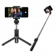 Huawei 2W1 Af15 Pro asmenukių lazda + trikojis teleskopinis stovas Bluetooth Juodas