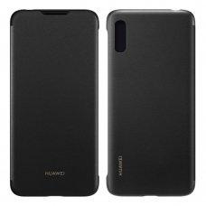 """Originalus Atverčiamas Dėklas """"Huawei Flip Cover Bookcase"""" Huawei Y6 2019 Juodas (51992945)"""