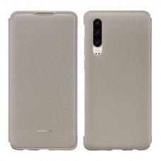 Originalus Huawei Wallet Atverčiamas Dėklas Huawei P30 Chaki