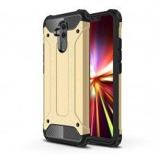 """Tvirtas Apsauginis Dėklas Iš Tpu Ir Pc Plastiko """"Hybrid Armor Rugged"""" Huawei Mate 20 Lite Auksinis"""