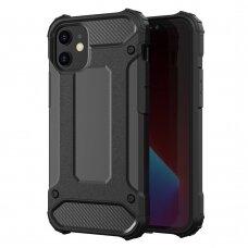 Tvirtas Apsauginis Dėklas Iš Tpu Ir Pc Plastiko 'Hybrid Armor Tough Rugged' Iphone 12 Mini Juodas