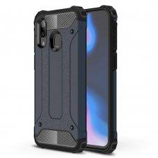 """Tvirtas Apsauginis Dėklas Iš Tpu Ir Pc Plastiko """"Hybrid Armor Rugged"""" Samsung Galaxy A40 Mėlynas"""