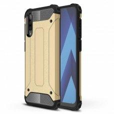 """Tvirtas Apsauginis Dėklas Iš Tpu Ir Pc Plastiko """"Hybrid Armor Rugged"""" Samsung Galaxy A50 Auksinis"""