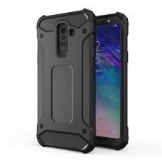 """Tvirtas Apsauginis Dėklas Iš Tpu Ir Pc Plastiko """"Hybrid Armor Rugged"""" Samsung Galaxy A6 Plus 2018 A605 Juodas"""