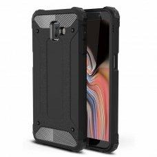 """Tvirtas Apsauginis Dėklas Iš Tpu Ir Pc Plastiko """"Hybrid Armor Rugged"""" Samsung Galaxy J6 Plus 2018 J610 Juodas"""