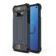 """Tvirtas Apsauginis Dėklas Iš Tpu Ir Pc Plastiko """"Hybrid Armor Rugged"""" Samsung Galaxy S10E Mėlynas"""