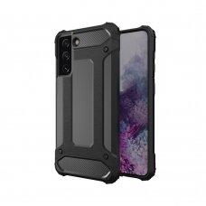 Apsauginis dėklas Hybrid Armor Samsung Galaxy S21+ 5G (S21 Plus 5G) Juodas