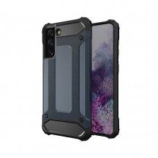 Apsauginis dėklas Hybrid Armor Case Tough Rugged Samsung Galaxy S21 Ultra 5G Tamsiai mėlynas