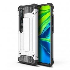 """Apsauginis dėklas Pc plastikas ir TPU """"Hybrid Armor Tough Rugged"""" Xiaomi Mi Note 10 / Mi Note 10 Pro / Mi CC9 Pro sidabrinis (goe85) UCS103"""