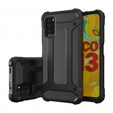 Dėklas Hybrid Armor Case Tough Rugged Xiaomi Poco M3 / Xiaomi Redmi 9T Juodas