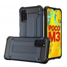 Dėklas Hybrid Armor Case Tough Rugged Xiaomi Poco M3 / Xiaomi Redmi 9T Tamsiai mėlynas