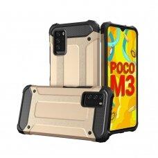 Dėklas Hybrid Armor Case Tough Rugged Xiaomi Poco M3 / Xiaomi Redmi 9T Auksinis