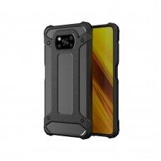 Dėklas Hybrid Armor Case Tough Rugged Cover for Xiaomi Poco X3 NFC Juodas