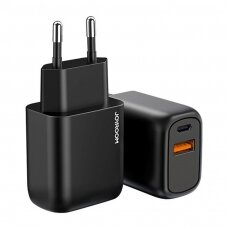 Joyroom įkroviklis USB Type C / USB 20 W Power Delivery Quick Charge 3.0 juodas (L-QP204)