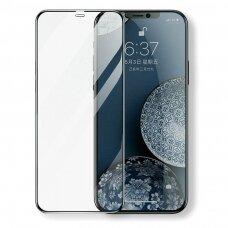 Joyroom Knight Series 2,5D full screen ceramics apsauginis stiklas iPhone 12 Pro / iPhone 12 Juodas (JR-PF611)