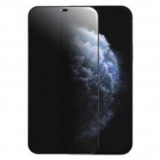 Joyroom Knight Series 2,5D stiklas su  Anti Spy filtru iPhone 12 Pro / iPhone 12 Juodas (JR-PF602)