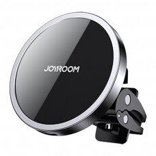 Joyroom magnetinis Qi bevielis automobilinis įkroviklis - telefono laikiklis (suderinama su MagSafe) juodas (JR-ZS240)