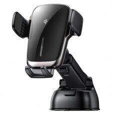 Joyroom Qi wireless 15 W automobilinis laikiklis - kroviklis tvirtinamas prie prietaisų skydelio trumpa kojele juodas (JR-ZS248)
