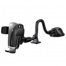 Joyroom Qi wireless 15 W automobilinis laikiklis su belaidžio krovimo funkcija tvirtinamas prie prietaisų skydelio juodas (JR-ZS248)