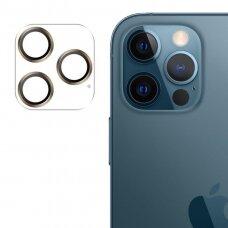 Apsauginis kameros stiklas Joyroom Shining Series Pilna Objektyvo Apsauga iPhone 12 Pro Max Auksinis (JR-PF689)