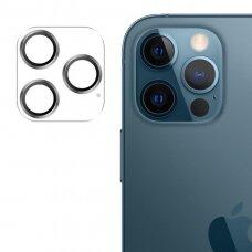 Apsauginis stiklas Joyroom Shining Series full lens protector camera iPhone 12 Pro Max Sidabrinis (JR-PF689)