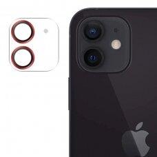 Joyroom Shining Series apsauginis kameros stiklas iPhone 12 Raudonas (JR-PF687)