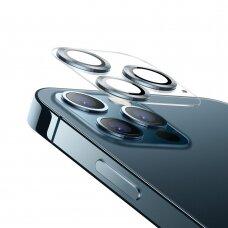Joyroom Shining Series kameros apsauginis stiklas iPhone 12 Sidabrinis (JR-PF687)