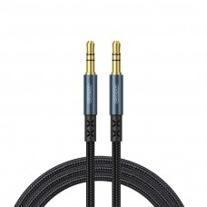 Joyroom stereo audio AUX Kabelis 3,5 mm 1 m Tamsiai Mėlynas (SY-10A1)