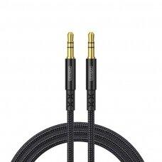 Joyroom stereo audio AUX Kabelis 3,5 mm 1,5 m Juodas (SY-15A1)