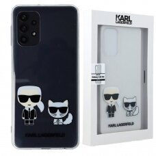 Originalus Karl Lagerfeld dėklas KLHCA52CKTR A525/A526 Samsung Galaxy A52 Skaidrus Karl & Choupette
