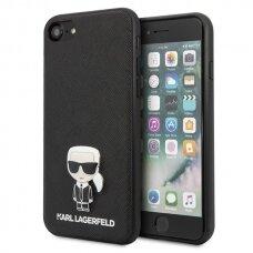 Originalus Dėklas Karl Lagerfeld Klhci8Ikfbmbk Iphone 7/8 Se 2020 Juodas Saffiano Ikonik