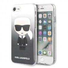 Originalus Karl Lagerfeld dėklas KLHCI8TRDFKBK iPhone 7/8 /SE 2020 juodas Gradient Ikonik Karl UCS062