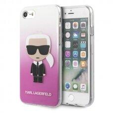 Originalus Karl Lagerfeld Dėklas Klhci8Trdfkpi Iphone 7/8 Se 2020 Rožinis Gradient Ikonik Karl
