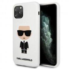 Karl Lagerfeld KLHCN65SLFKWH iPhone 11 Pro Max hardcase biały/white Silicone Iconic USC056