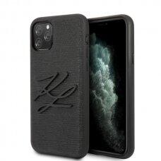 Karl Lagerfeld  KLHCN65TJKBK originalus dėklas iPhone 11 Pro Max hardcase juodas Lizard USC056