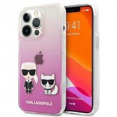 "Originalus Karl Lagerfeld dėklas KLHCP13LCKTRP iPhone 13 Pro / 13 6,1"" Rožinis Karl & Choupette"