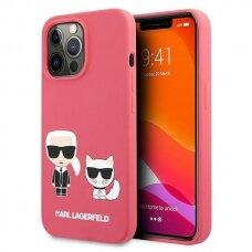 "Originalus Karl Lagerfeld dėklas KLHCP13LSSKCP iPhone 13 Pro / 13 6,1"" Rožinis Silicone Karl & Choupette"