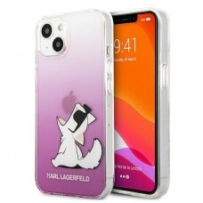 "Originalus Karl Lagerfeld dėklas KLHCP13SCFNRCPI iPhone 13 mini 5,4"" Rožinis Choupette Fun"