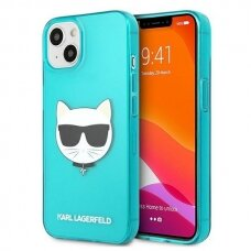 "Originalus Karl Lagerfeld dėklas KLHCP13SCHTRB iPhone 13 mini 5,4"" Mėlynas Glitter Choupette Fluo"