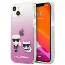 "Originalus Karl Lagerfeld dėklas KLHCP13SCKTRP iPhone 13 mini 5,4"" Rožinis Karl & Choupette"