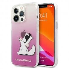 "Originalus Karl Lagerfeld dėklas KLHCP13XCFNRCPI iPhone 13 Pro Max 6,7"" Rožinis Choupette Fun"