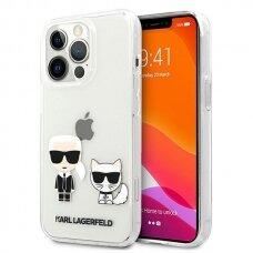 "Originalus Karl Lagerfeld dėklas KLHCP13XCKTR iPhone 13 Pro Max 6,7"" Permatomas Karl & Choupette"