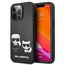 "Originalus Karl Lagerfeld dėklas KLHCP13XPCUSKCBK iPhone 13 Pro Max 6,7"" Juodas Ikonik Karl & Choupette"