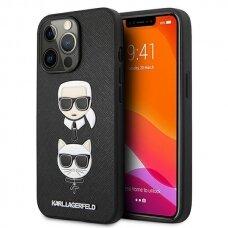 """Originalus Karl Lagerfeld dėklas KLHCP13XSAKICKCBK iPhone 13 Pro Max 6,7"""" Juodas Saffiano Karl & Choupette"""