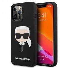 "Originalus Karl Lagerfeld dėklas KLHCP13XSLKHBK iPhone 13 Pro Max 6,7"" Juodas Silicone Karl`s Head"